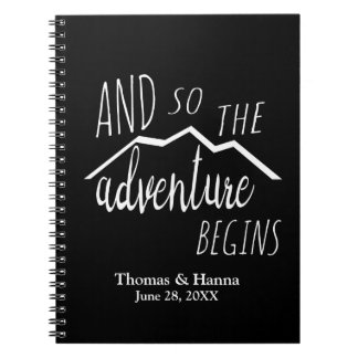 So The Adventure Begins Rustic Mountain Wedding Notebooks