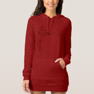 So Treva Dress Red & Gray