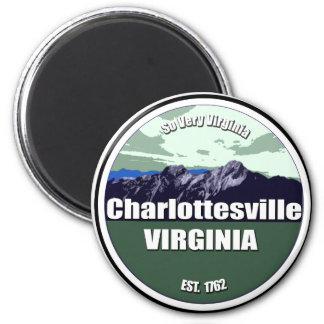 So Very Virginia Charlottesville 6 Cm Round Magnet