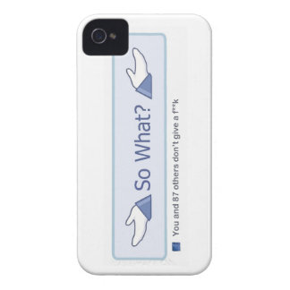 So What? (Facebook Button) iPhone 4 Cases