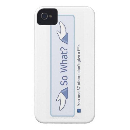 So What? (Facebook Button) Blackberry Case