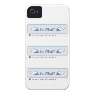 So What? (Multiple Facebook Button) iPhone 4 Covers