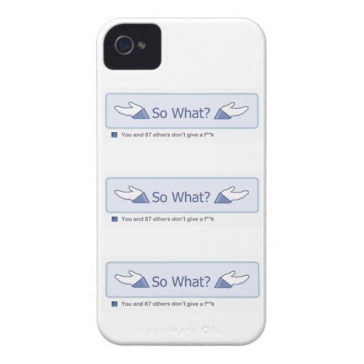 So What? (Multiple Facebook Button) Case-Mate Blackberry Case