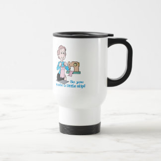 So You Made A Little Slip - Word Play Stainless Steel Travel Mug