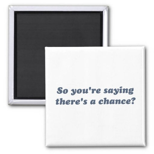 So You're Saying There's a Chance? Fridge Magnets