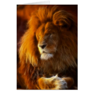Soaking Up the Sun, King of the Jungle Lion II Greeting Card