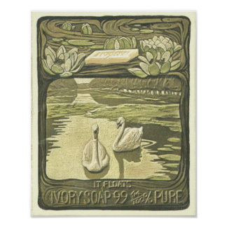 Soap Ad With 2 Swans Print