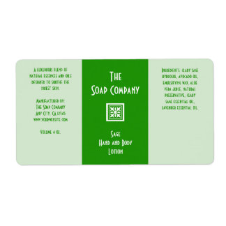Soap and Bath Products Label - Sage Green Shipping Label