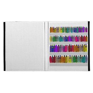 Soap Bottle Rainbow - for bathrooms, salons etc iPad Folio Cases