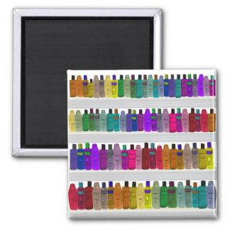 Soap Bottle Rainbow - for bathrooms, salons etc Square Magnet