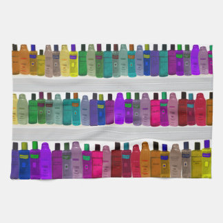 Soap Bottle Rainbow - for bathrooms, salons etc Towels