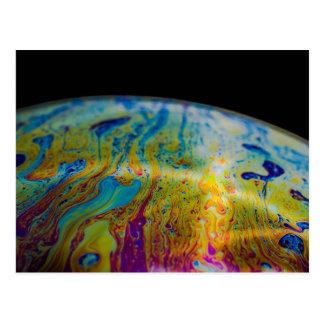 Soap Bubble Closeup Art Postcard