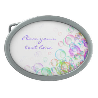 Soap Bubbles Belt Buckles