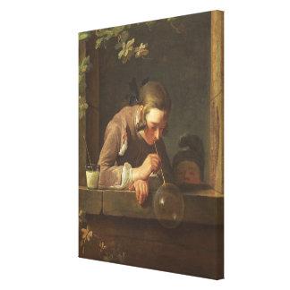 Soap Bubbles, c. 1733- 34 (oil on canvas) Canvas Print