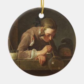 Soap Bubbles, c. 1733- 34 (oil on canvas) Christmas Ornament