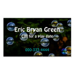 Soap Bubbles Calling Card Business Cards