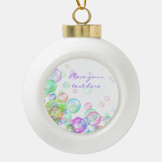 Soap Bubbles Ceramic Ball Christmas Ornament