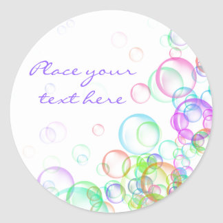 Soap Bubbles Classic Round Sticker