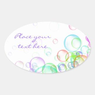 Soap Bubbles Oval Sticker