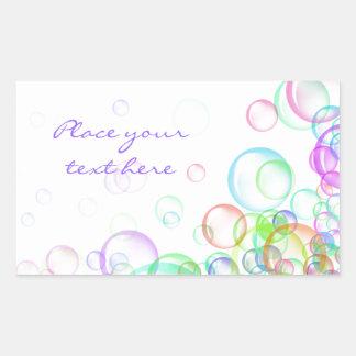 Soap Bubbles Rectangular Sticker