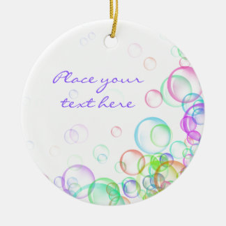 Soap Bubbles Round Ceramic Decoration