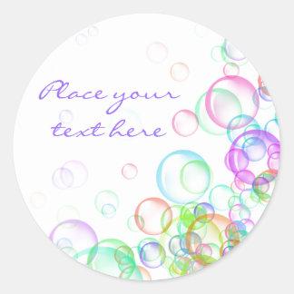 Soap Bubbles Round Sticker
