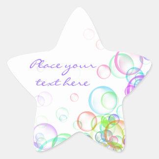 Soap Bubbles Star Sticker