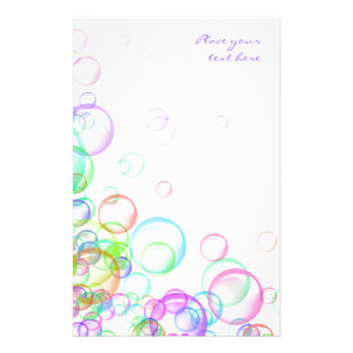 Soap Bubbles Stationery