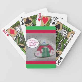 Soap Holiday Germs Humor Cartoon Poker Deck