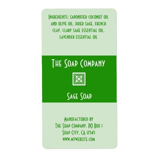 Soap Label - Sage Green