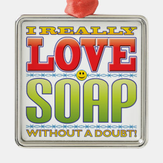 Soap Love Face Christmas Ornament