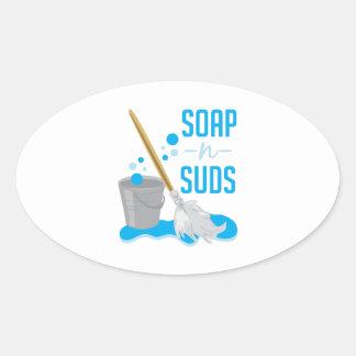 Soap N Suds Oval Sticker