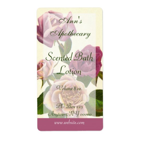Soap, Spa, or Bath Products Label - Rose