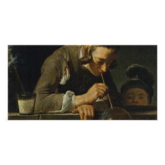 Soap Wind By Chardin Jean-Baptiste Siméon (Best Qu Personalised Photo Card