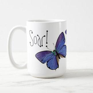Soar! Blue Butterfly Mug