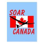 SOAR CANADA SOARING GLIDING POST CARD