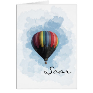 Soar Graduation Hot Air Balloon Card