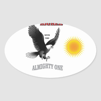 soar higher with god oval sticker