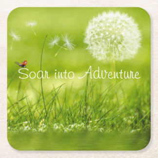 Soar into Adventure Square Paper Coaster