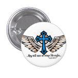 Soar On Wings Blue Buttons