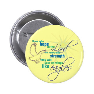 Soar on Wings Christian Scripture button/badge