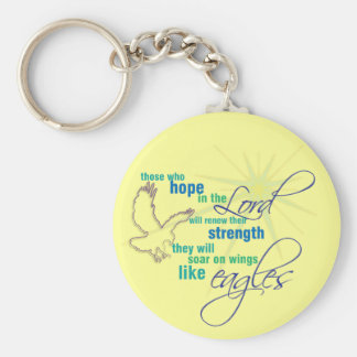 Soar on Wings Christian Scripture keychain