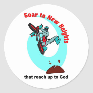 Soar to new heights that reach up to God Classic Round Sticker