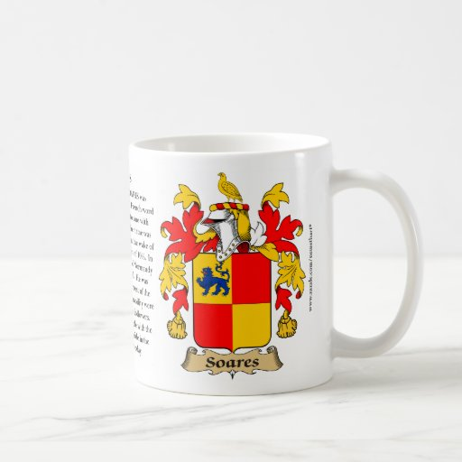 Soares, the Origin, the Meaning and the Crest Mug
