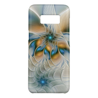 Soaring, Abstract Fantasy Fractal Art With Blue Case-Mate Samsung Galaxy S8 Case