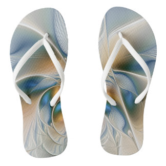 Soaring, Abstract Fantasy Fractal Art With Blue Flip Flops