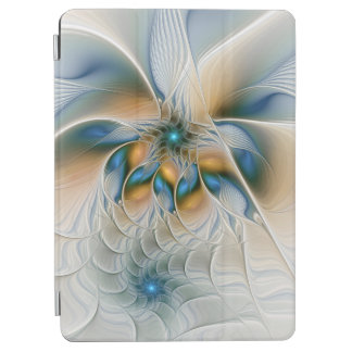 Soaring, Abstract Fantasy Fractal Art With Blue iPad Air Cover