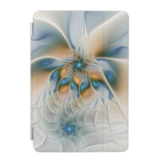 Soaring, Abstract Fantasy Fractal Art With Blue iPad Mini Cover