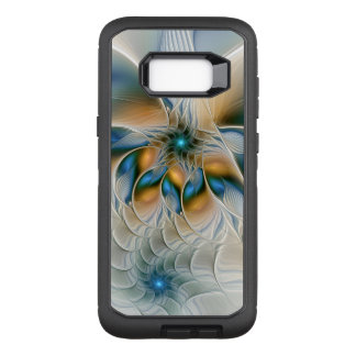 Soaring, Abstract Fantasy Fractal Art With Blue OtterBox Defender Samsung Galaxy S8+ Case