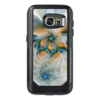 Soaring, Abstract Fantasy Fractal Art With Blue OtterBox Samsung Galaxy S7 Case